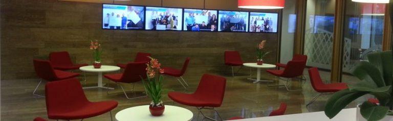 Corporate Communication TV Signage