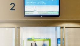 Digital display in a corporate environment