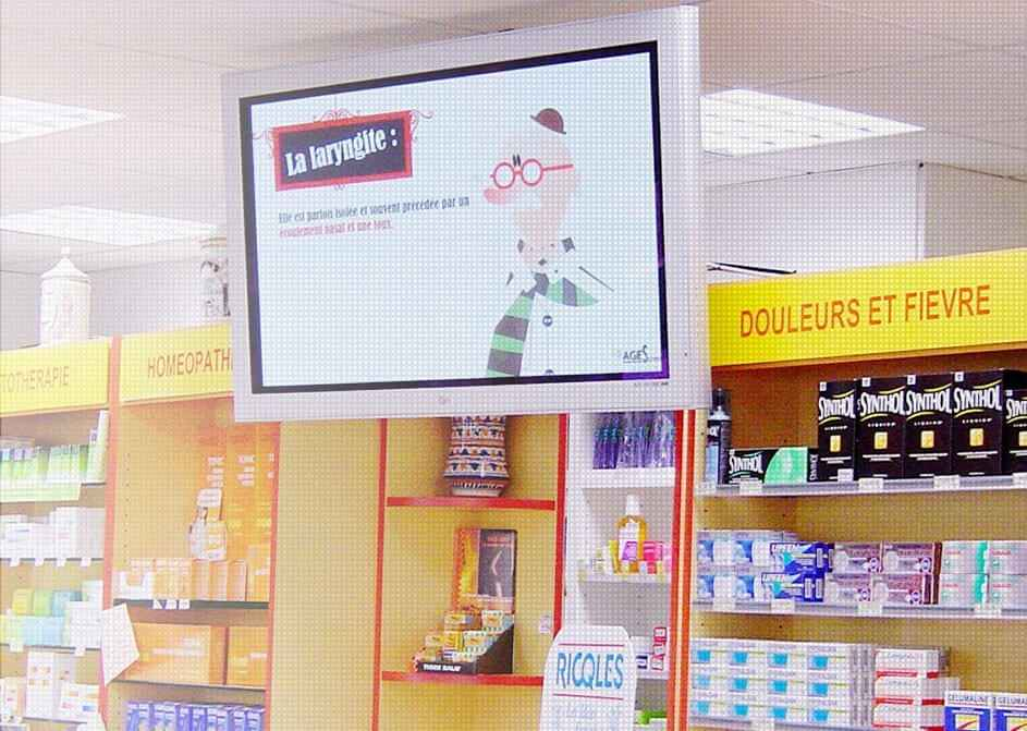 Digital signage usage example: healthcare display in pharmacy